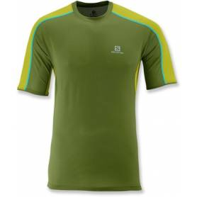Salomon TRAIL RUNNER TEE M DARK SEAWE/G