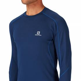 Salomon TRAIL RUNNER LS TEE MIDNIGHT BLUE