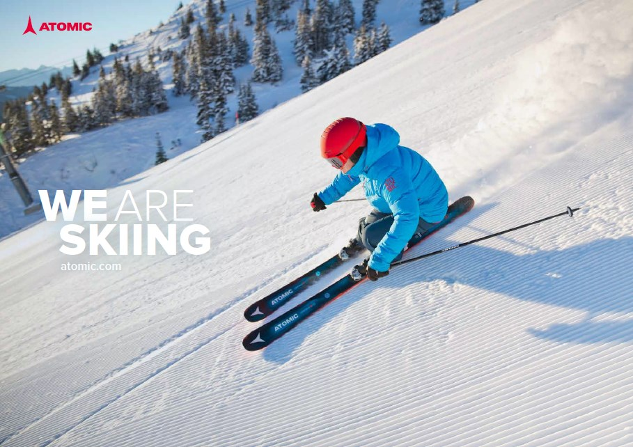 we are skiing man