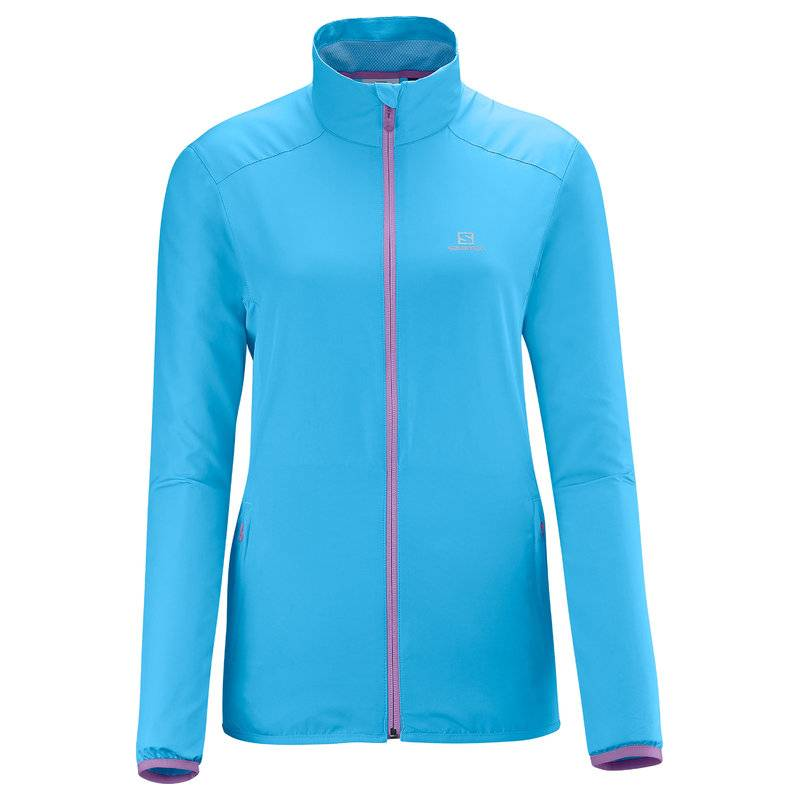 Salomon START JACKET W SCORE BLUE