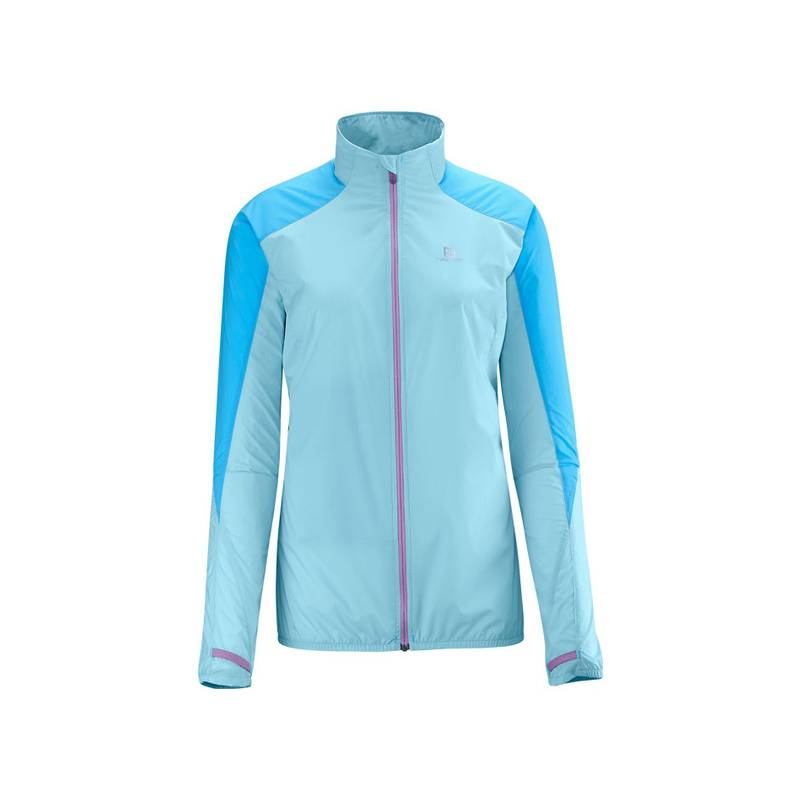 Salomon S FAST WING JACKET W CLEARWATER/BL