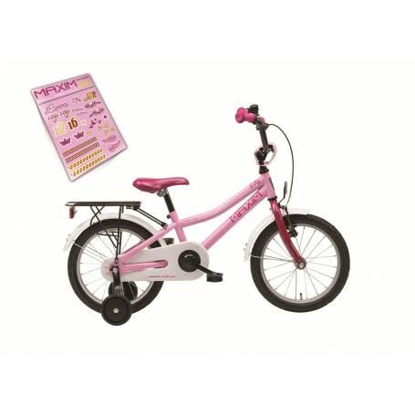 """Rower MAXIM 16"""" LILLY (8"""") jasny różowy"""