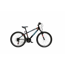 """Rower MAXIM 24"""" MJ 4.5 alu (14"""") YS-728 nieb (niebieskie naklejki) (czarny)"""