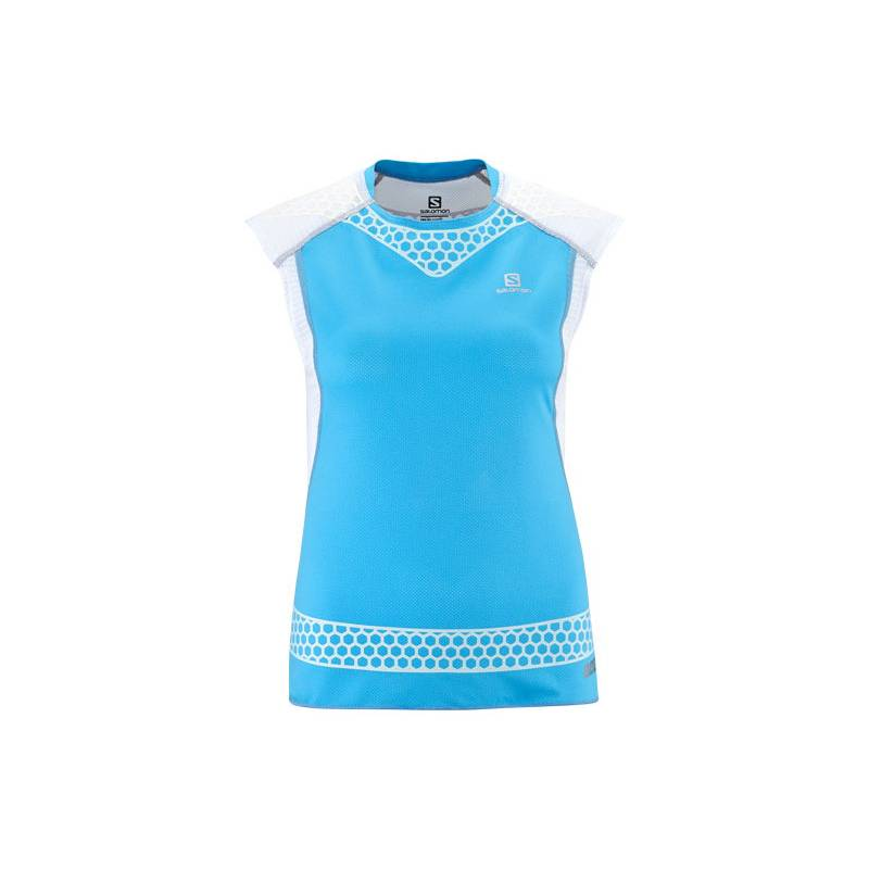 Salomon S-LAB EXO TANK W SCORE BLUE/WH
