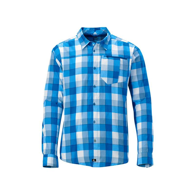 Salomon EQUATION LS SHIRT M BL/STONE BL