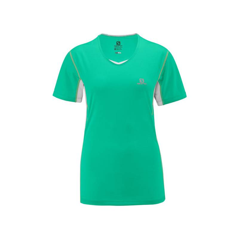 Salomon START TEE W POPSICLE GREEN/WH