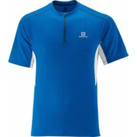 Salomon START ZIP TEE M Union Blue/WH