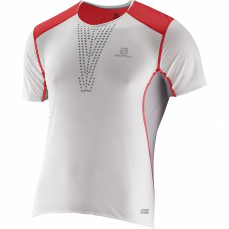 Salomon S-LAB SENSE TEE M White/RD/ALU !15