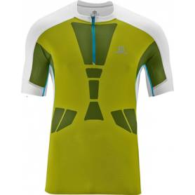 Salomon SKY TEE M SEAWEED GREEN/White