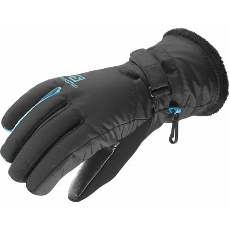 Rękawice Salomon FORCE DRY W Black/Blue Bird