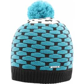 Czapka POLY BEANIE Black/Blue Bird/White