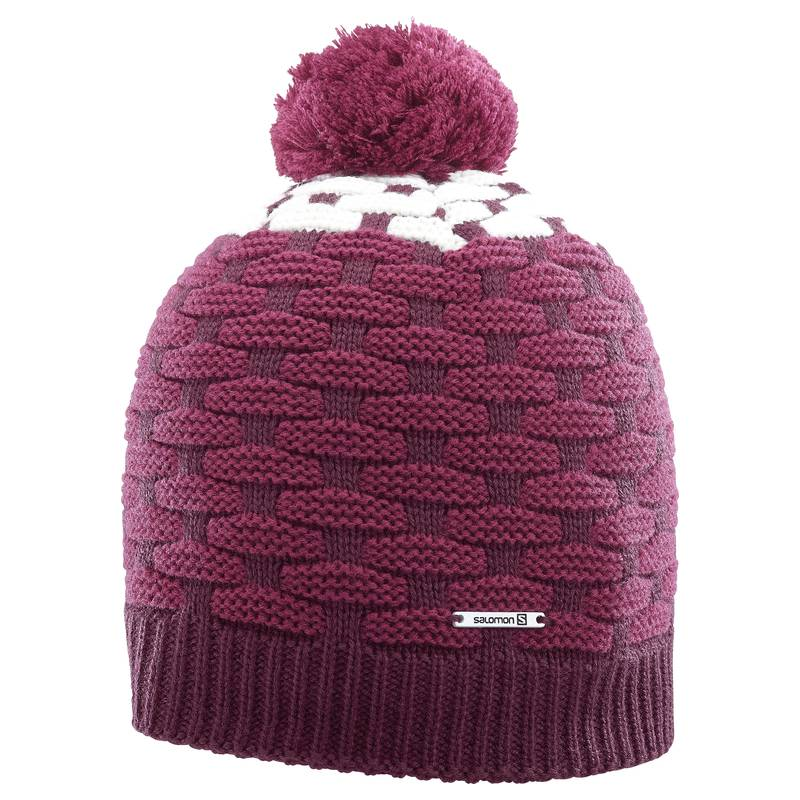 Czapka POLY BEANIE Fig/Beet Red/White