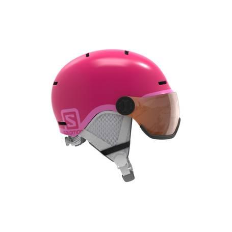 Kask SALOMON GROM VISOR Glossy Pink/Univ