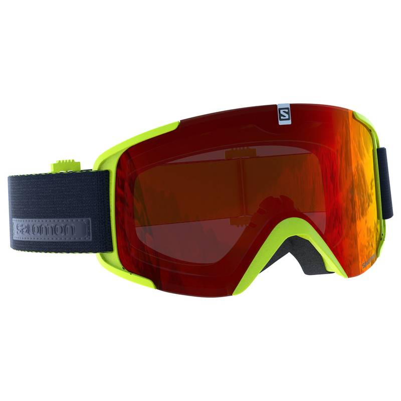 Gogle XVIEW Acid Lime/Univ. Mid Red