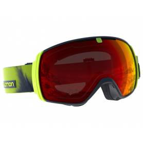 Gogle Salomon XT ONE Acid Lime/Uni. Mid Red
