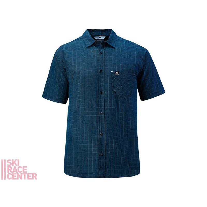 L START SHIRT M Midnight Blue/WH*