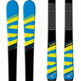Narty Salomon X-RACE Jr GS + Race Plate Jr Blk 2018