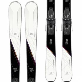 Narty Salomon W-MAX 8 + Mercury 11 White/Black 2018