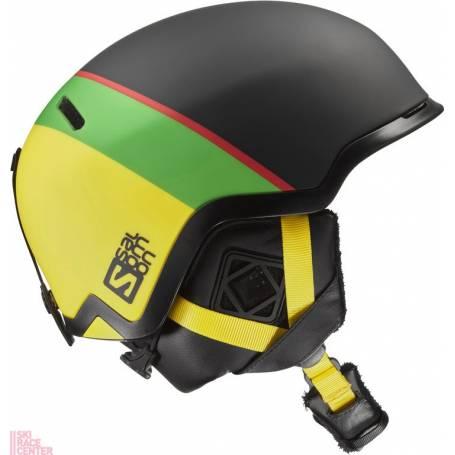 Kask SALOMON HACKER BLACK/Green/Yellow 16/17