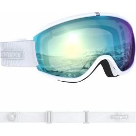 GOGLE SALOMON IVY 2020 WHITE GLITCH|MID BLUE | SnowShop.pl